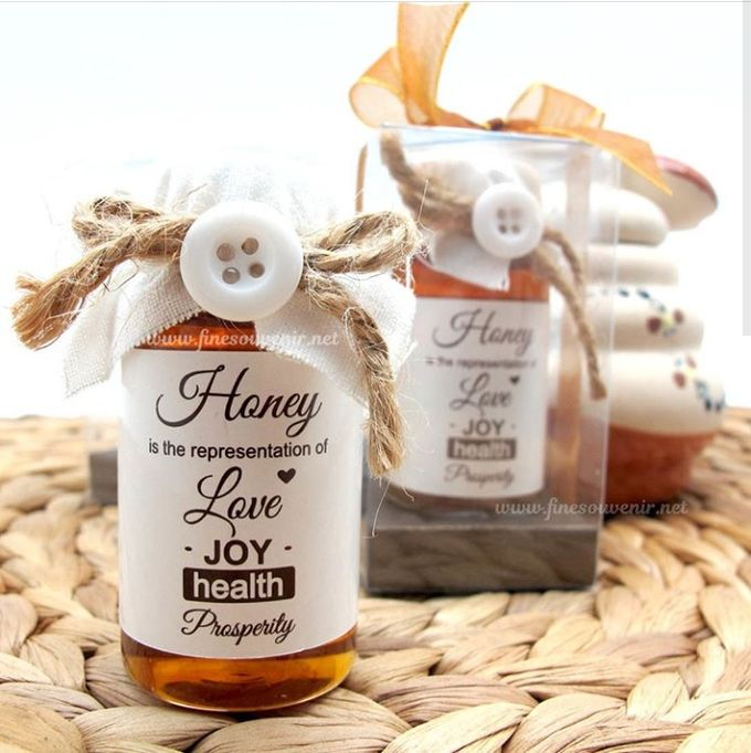 Honey & Clear Box+Personalised Label by Fine Souvenir - 002