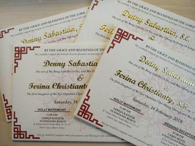 Deny & Ferina by xime wedding card - 002
