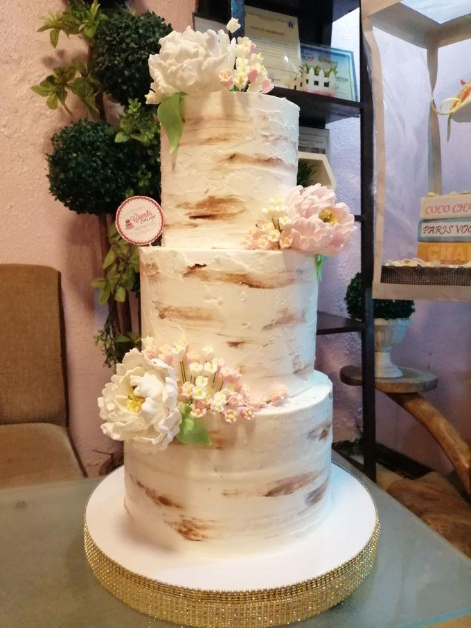 Customized Wedding Naked Cake Rustic Themed Cake by Crumbs Cake Art Bakeshop - 009