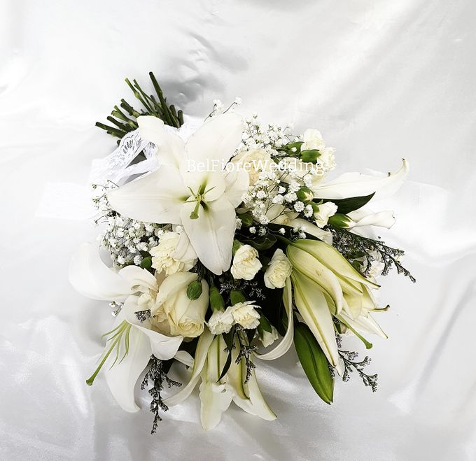 White Wedding Flower by Belfiore Florist - 001
