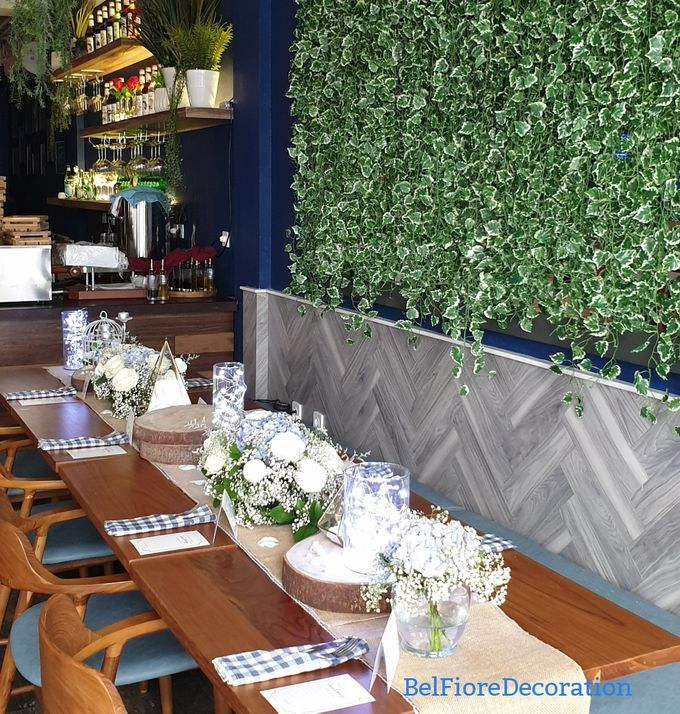 Table Decor Birthday Dinner by Belfiore Florist - 004