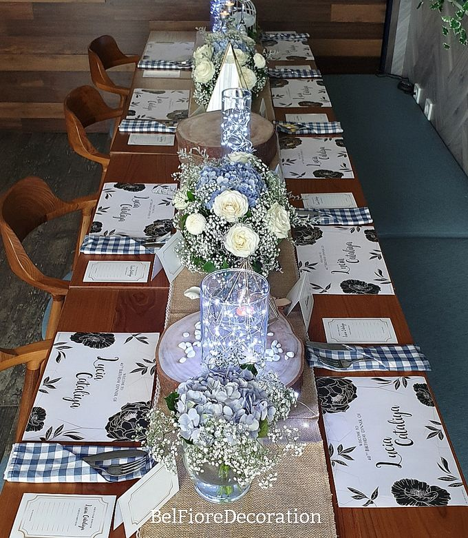 Table Decor Birthday Dinner by Belfiore Florist - 003