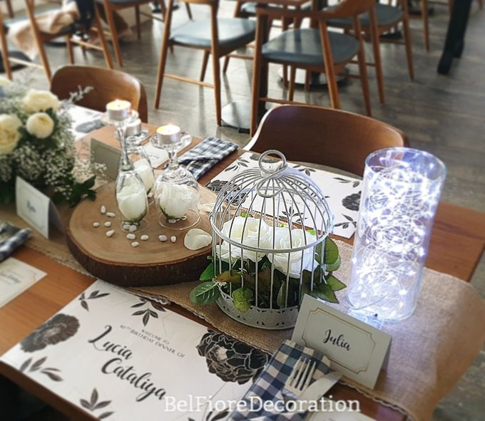 Table Decor Birthday Dinner by Belfiore Florist - 001