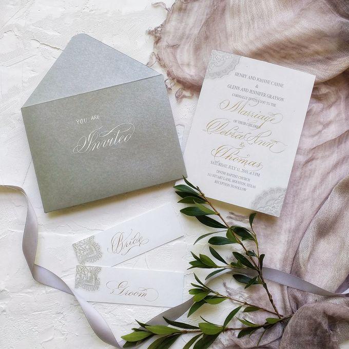 Wedding invitations by xuecalligraphy - 001
