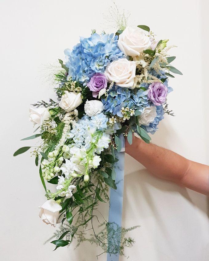 Mike & Jocelyn Church Wedding by Happyflorals - 002