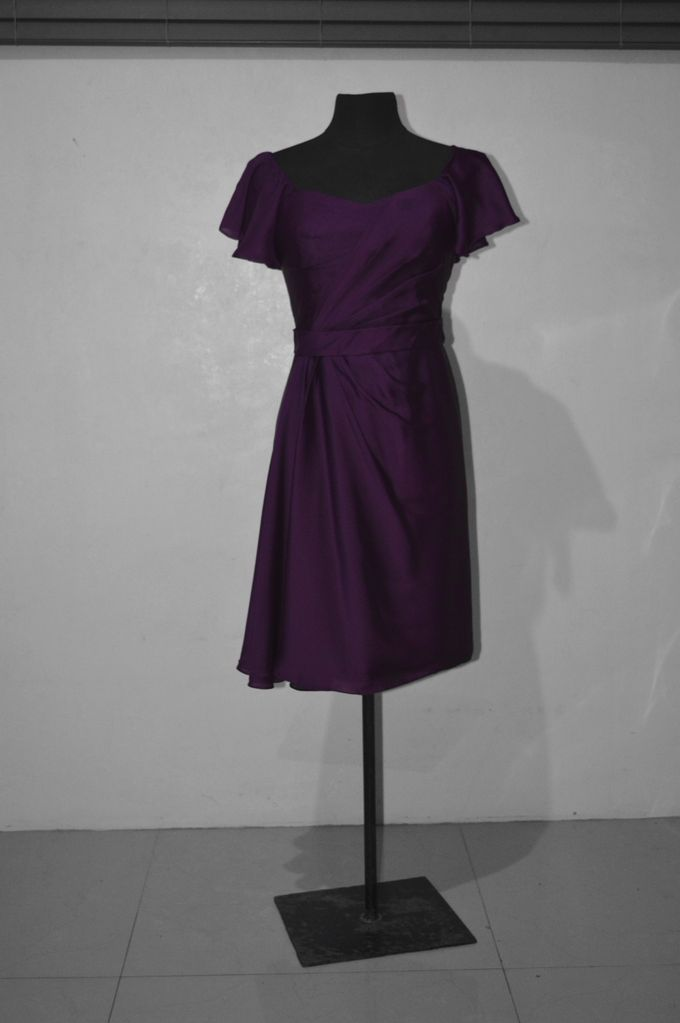 Aubergine Evening Dress by Belle en Blanc Bespoke Bridal - 004