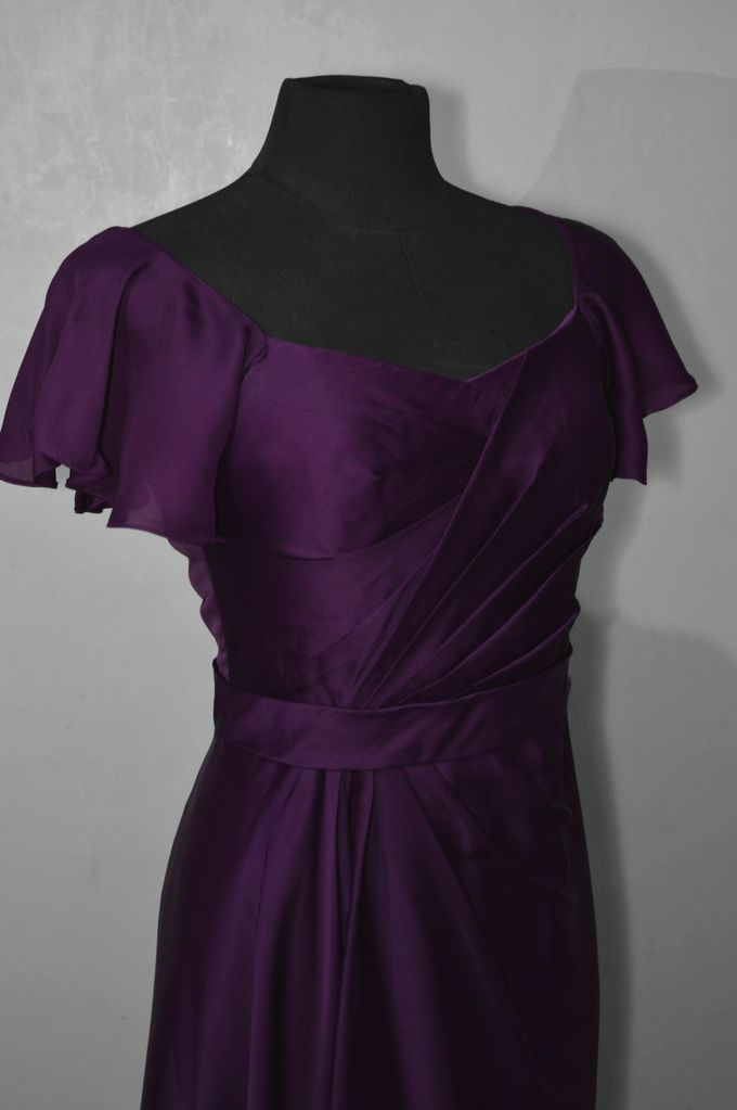 Aubergine Evening Dress by Belle en Blanc Bespoke Bridal - 002