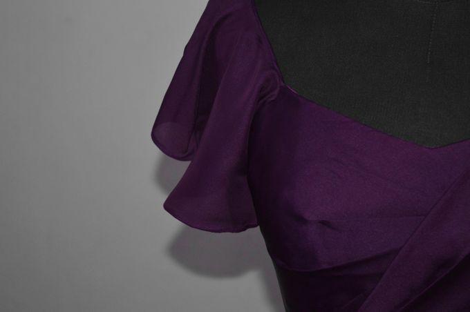 Aubergine Evening Dress by Belle en Blanc Bespoke Bridal - 003