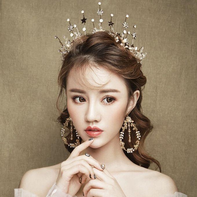 Regatta Wedding Crown Headpiece, with earrings by Fairytale Undercover - 003