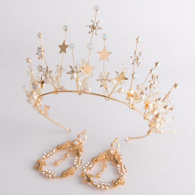 Regatta Wedding Crown Headpiece, with earrings by Fairytale Undercover - 001