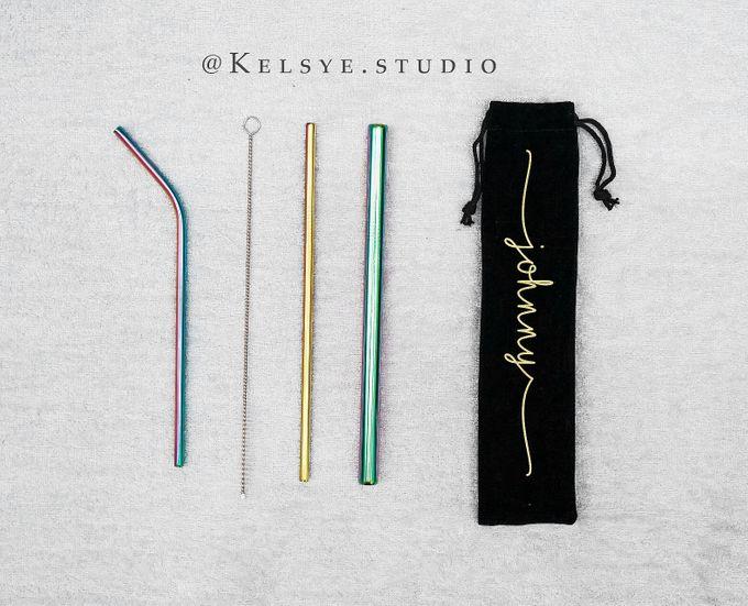 Personalized Customized Stainless Steel Straw Set by Kelsye Studio - 001