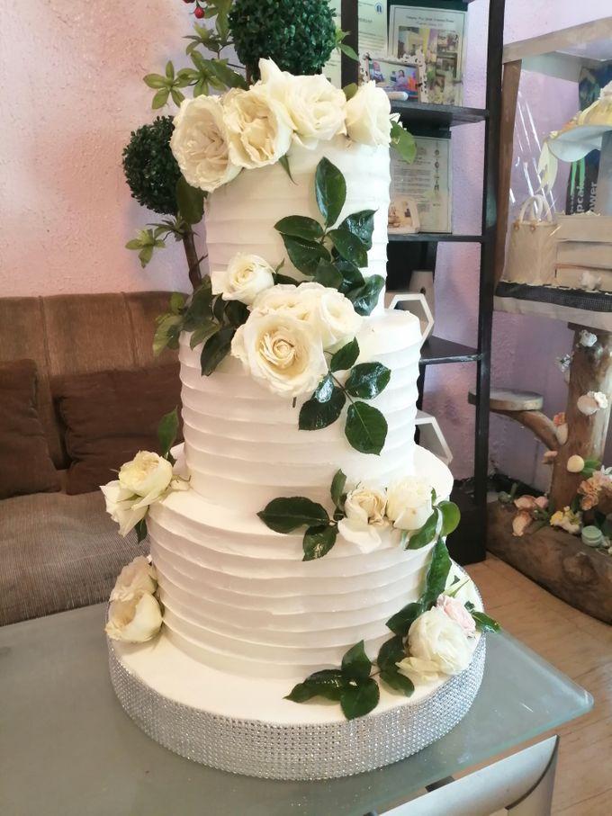 Customized Wedding Naked Cake Rustic Themed Cake by Crumbs Cake Art Bakeshop - 013
