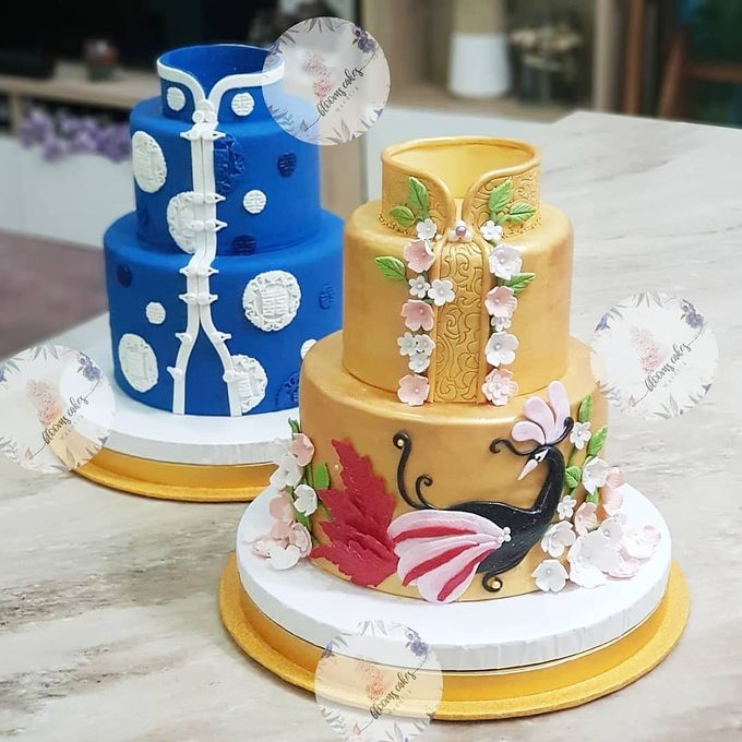 Custom Wedding Cake by Bloomscake Wedding - 021