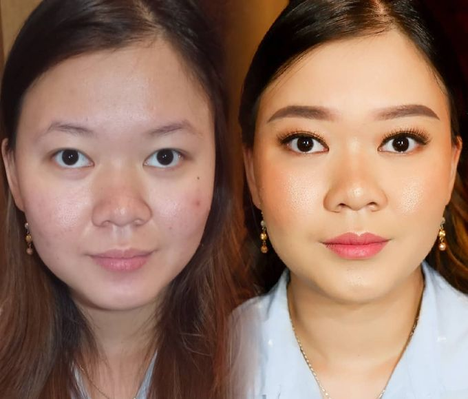 Natural Wedding Makeup 2019 by AngeLin Bridal - 019