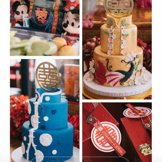Custom Wedding Cake by Bloomscake Wedding - 013