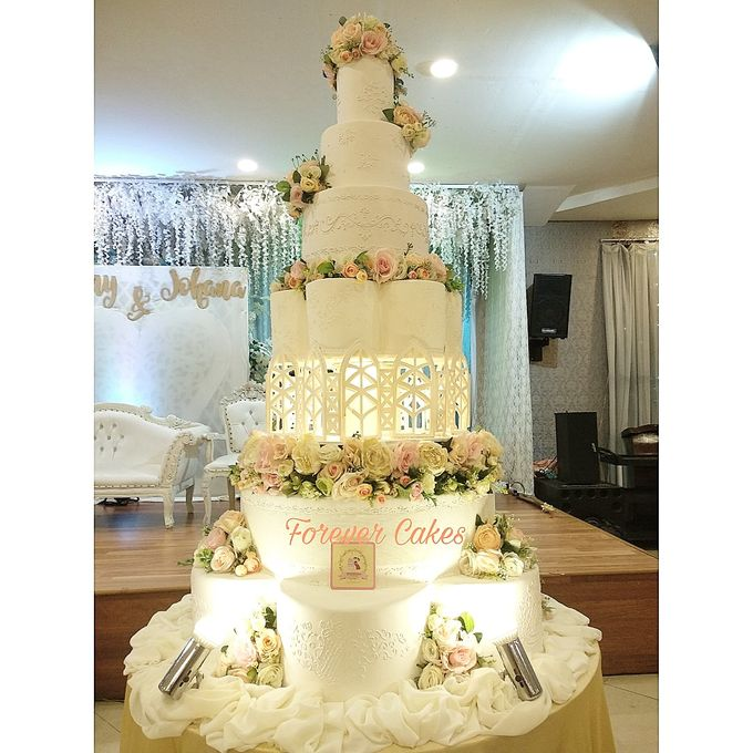 7 Tiers Wedding Cakes by FOREVER CAKE - 003
