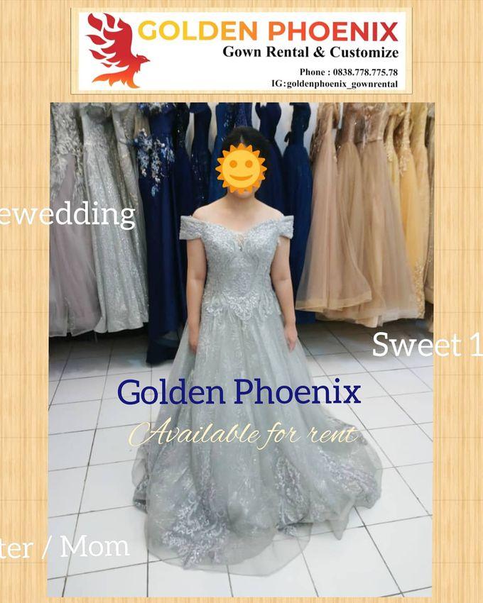 Sewa Gaun Dress Mama Sister Prewedding by Golden Phoenix Rent Gown - 003