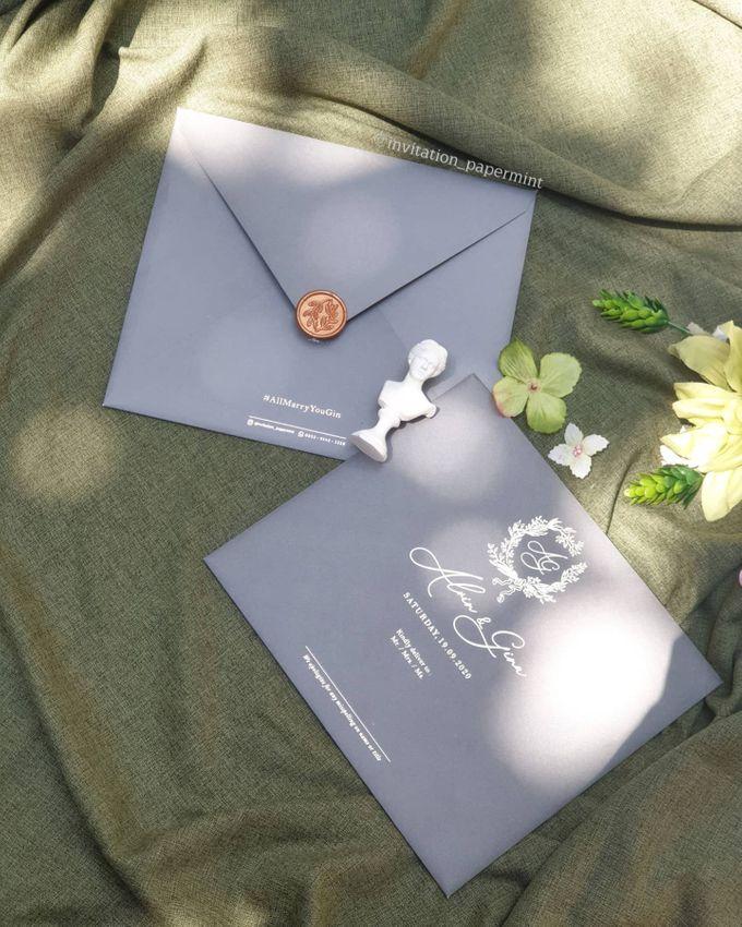 luxury wedding invitation by Invitation Papermint - 005