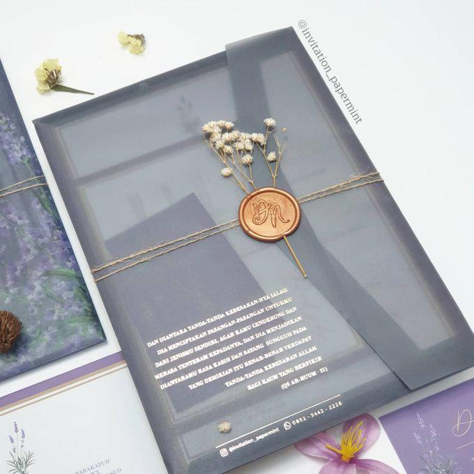 Lovie Purple Rustic by Invitation Papermint - 005
