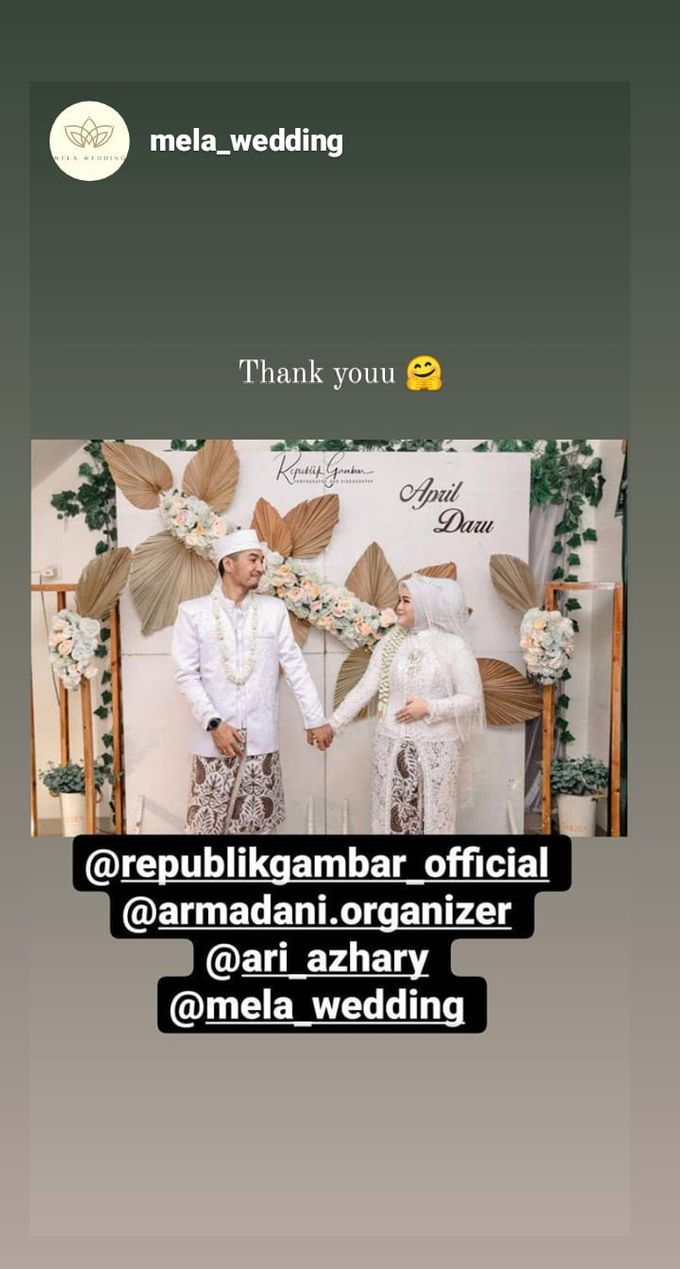 The Intimate Wedding Of April & Daru by Armadani Organizer - 001