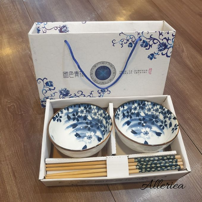 Premium Bowl And Chopstick Set by Alleriea Wedding Gifts - 002
