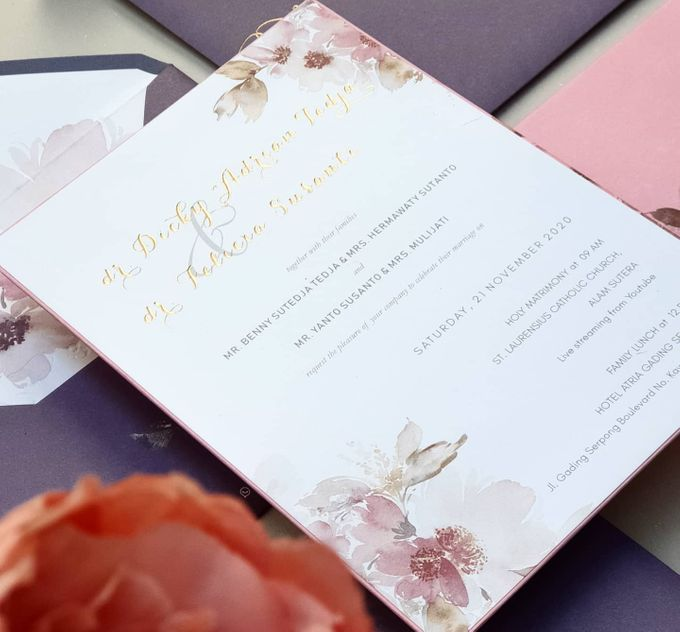 Romantic  Anemone by Invitation Papermint - 005