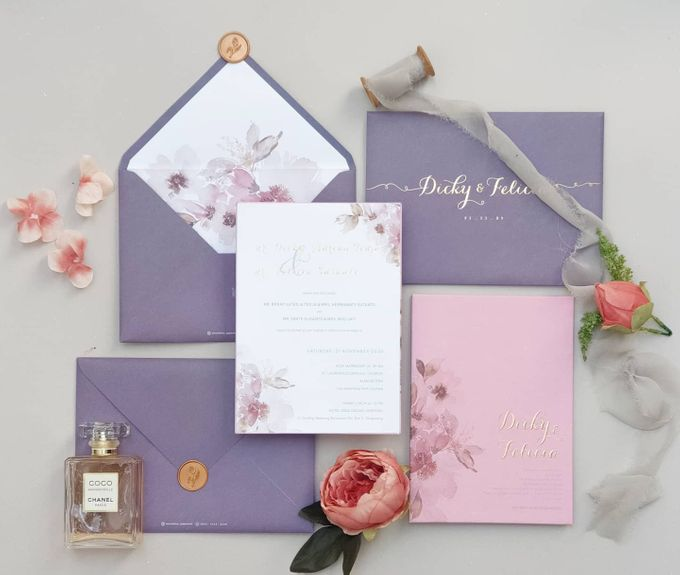 Romantic  Anemone by Invitation Papermint - 008