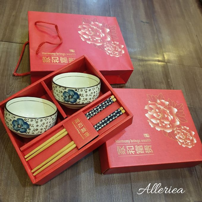 Premium Bowl And Chopstick Set by Alleriea Wedding Gifts - 004