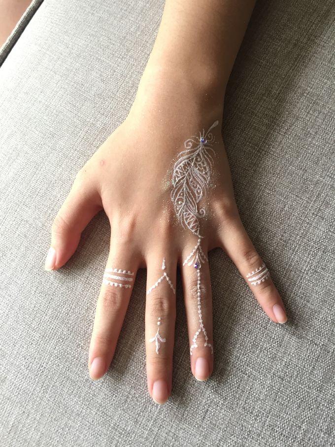 White Henna for Wedding by Nirvana Henna by Shinta - 002