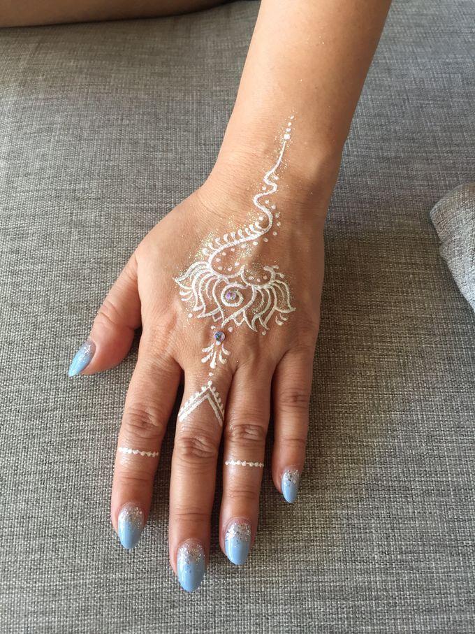 White Henna for Wedding by Nirvana Henna by Shinta - 004