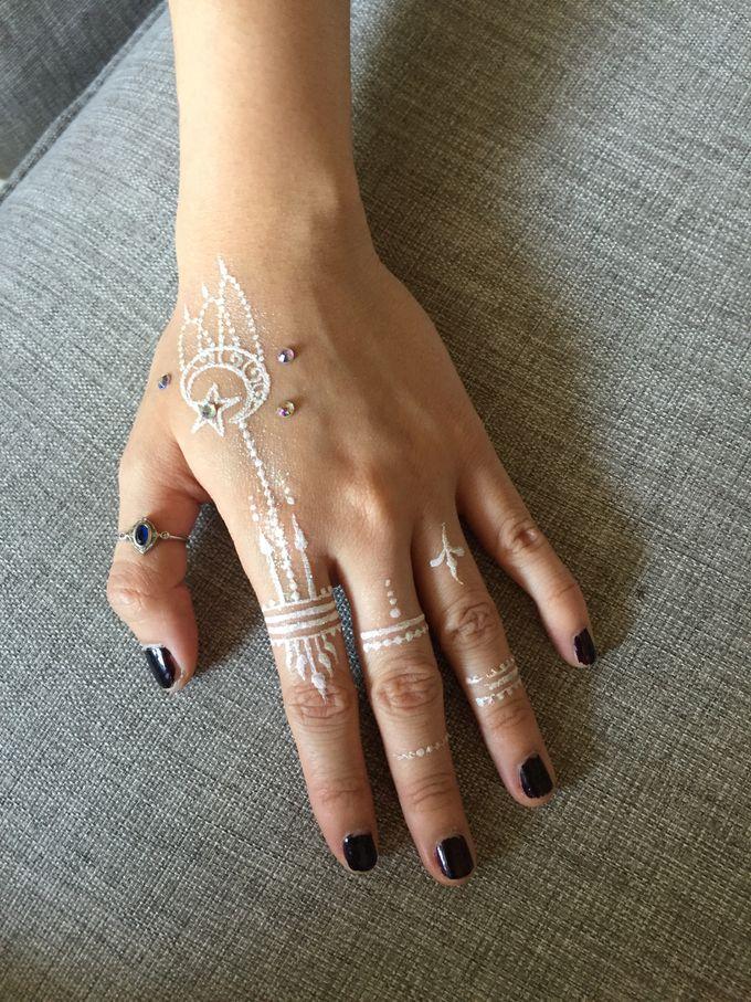White Henna for Wedding by Nirvana Henna by Shinta - 005