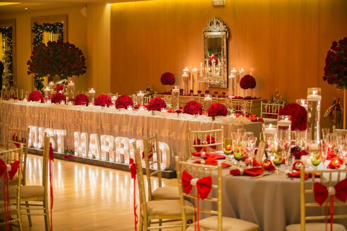 Luxury Christmas Red & Gold Wedding by Diamond Events - 031
