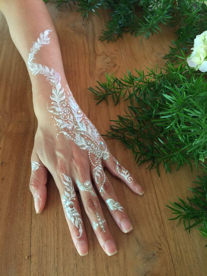 White Henna for Wedding by Nirvana Henna by Shinta - 007