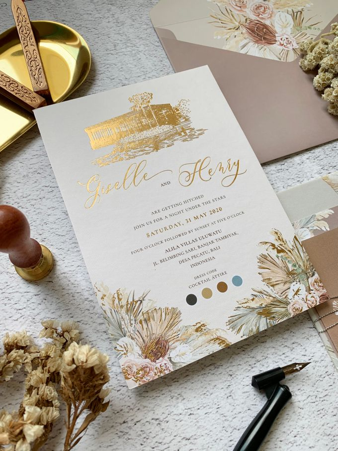 Tropical Sand by Trouvaille Invitation - 001