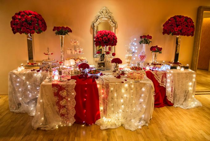 Luxury Christmas Red & Gold Wedding by Diamond Events - 003