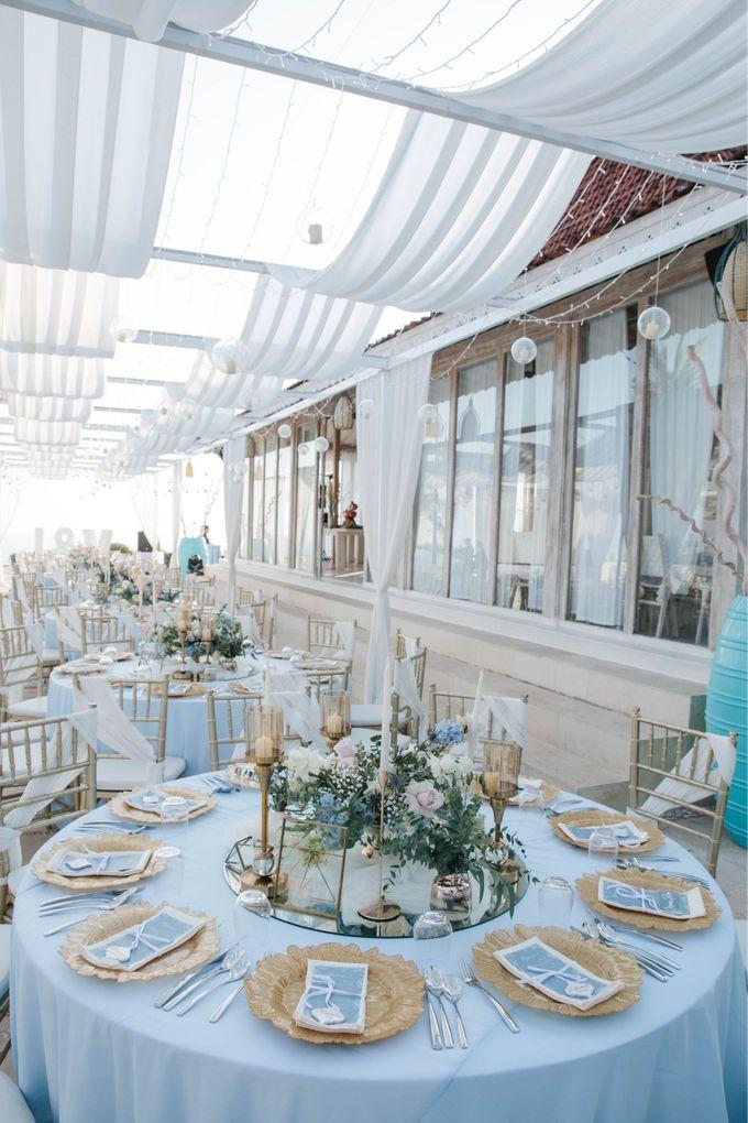 Charming Airy-blue Clifftop Wedding at Sunset Plenilunio Bali by Silverdust Decoration - 002