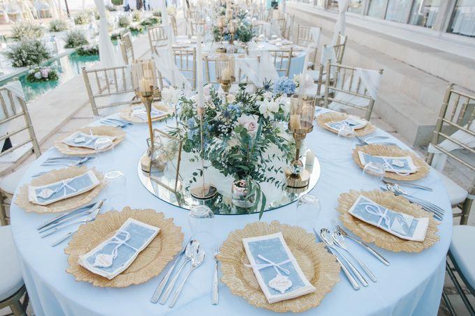 Charming Airy-blue Clifftop Wedding at Sunset Plenilunio Bali by Silverdust Decoration - 003