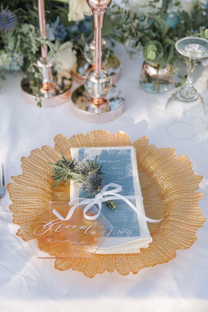 Charming Airy-blue Clifftop Wedding at Sunset Plenilunio Bali by Silverdust Decoration - 005