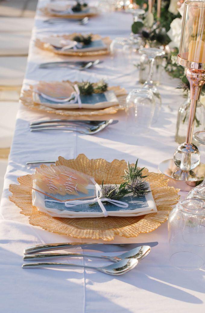 Charming Airy-blue Clifftop Wedding at Sunset Plenilunio Bali by Silverdust Decoration - 011