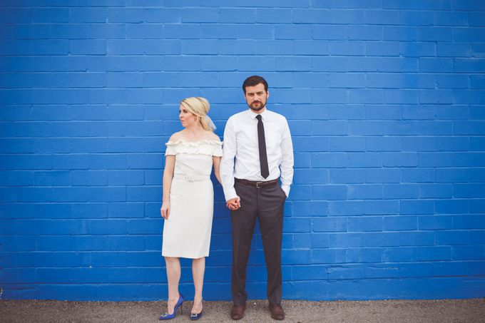 Bold Mod Elopement by Amber Elaine Photography - 002