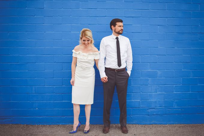 Bold Mod Elopement by Amber Elaine Photography - 003