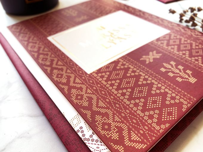 Ethnic In Red by Trouvaille Invitation - 003