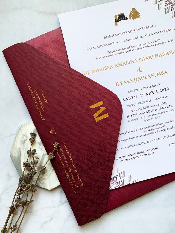 Ethnic In Red by Trouvaille Invitation - 005