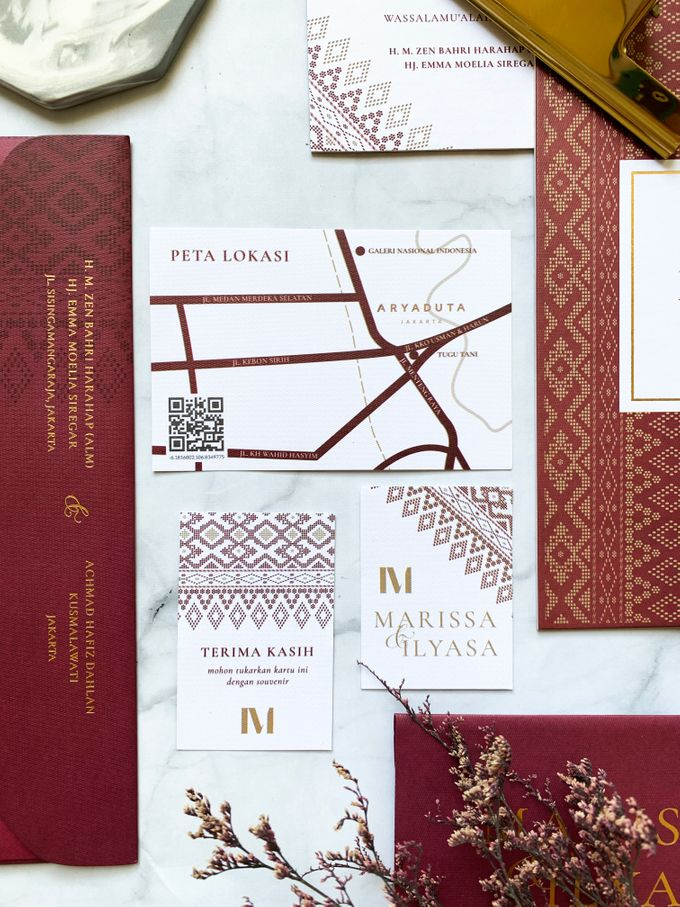 Ethnic In Red by Trouvaille Invitation - 007