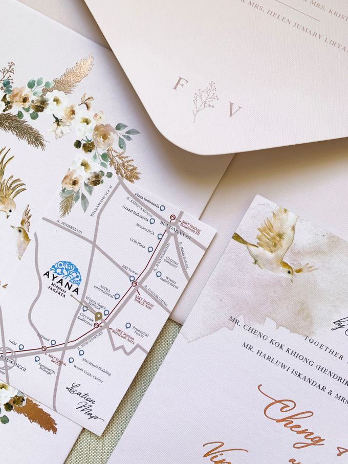 Love Birds by Trouvaille Invitation - 007
