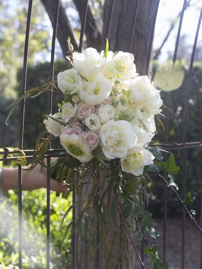 Blushing Bridal Bouquet by Flourish by Charlene - 001