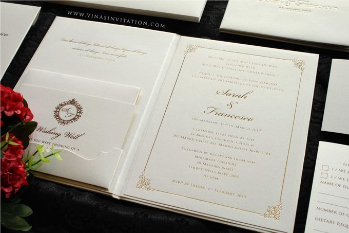 Sarah & Fransesco by Vinas Invitation - 004
