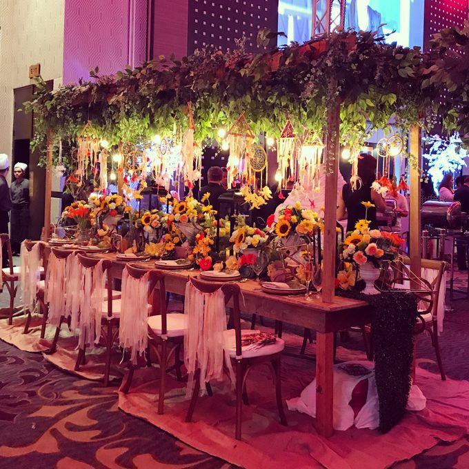Reception Styling by Natural Art Flowers and Decors - 030