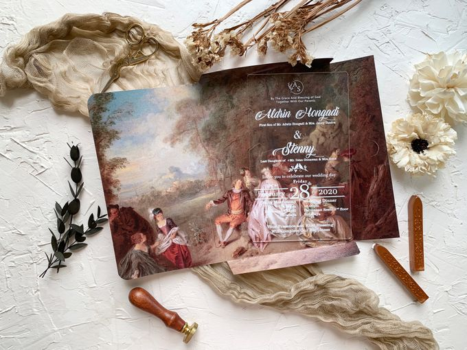 Classical Beauty by Trouvaille Invitation - 001
