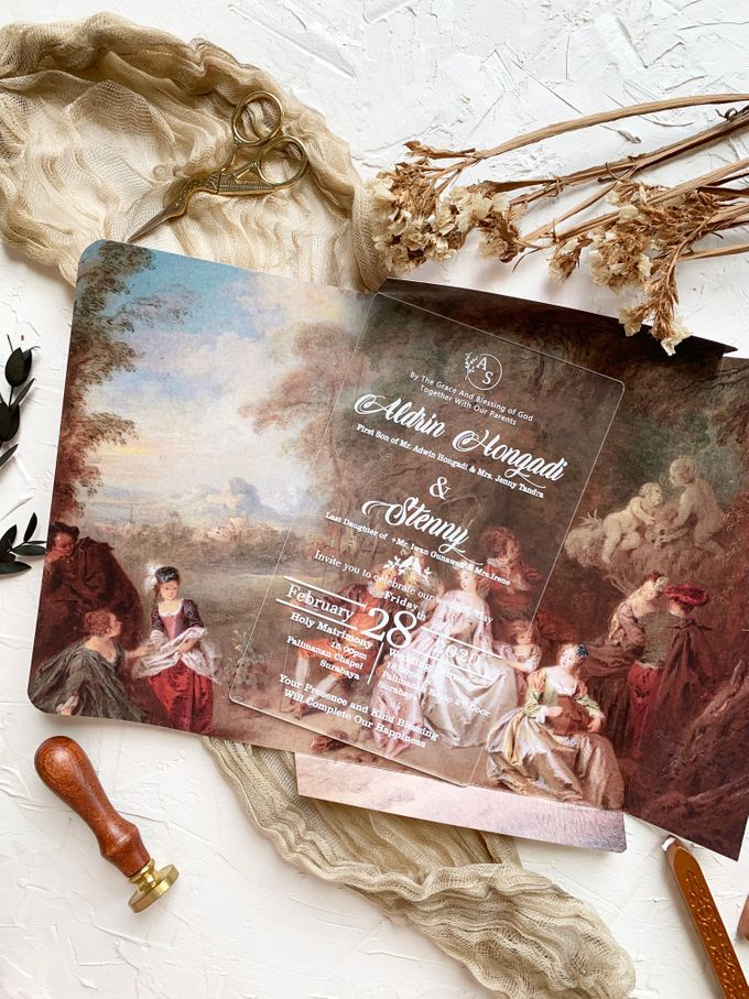 Classical Beauty by Trouvaille Invitation - 004
